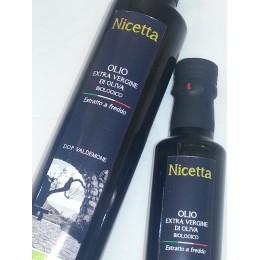 Olio BIO D.O.P. extravergine di Oliva Nicetta lt 0,250