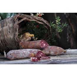 SALAME di suino nero dei Nebrodi in Dritto di vitello stagion. 45 gg-400gr circa  OPAN